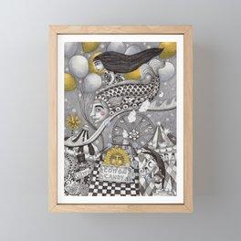 Roller Coaster Ride Framed Mini Art Print