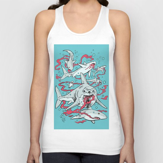 SHARKS AFTER LUNCH Unisex Tank Top