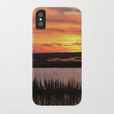 Sky Over The Marsh iPhone X Slim Case