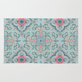 Gypsy Floral in Red & Blue Rug