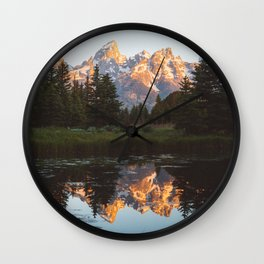 Summer in the Tetons 2 Wall Clock