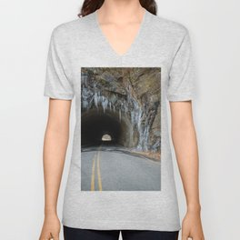 Icy Tunnel Pass If You Dare Unisex V-Neck