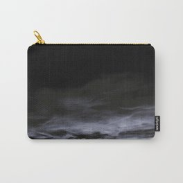 BLACK & BLUE & WHITE TOUCHING #2 #abstract #decor #art #society6 Carry-All Pouch