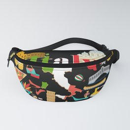 Italy Fans Gift Fanny Pack