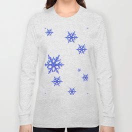 DECORATIVE WINTER WHITE SNOWFLAKES Long Sleeve T-shirt