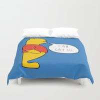 winnie the pooh Duvet Covers featuring WINNIE THE POOH by DrakenStuff+