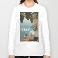 italy Long Sleeve T-shirts featuring ITALY by Kathead Tarot/David Rivera