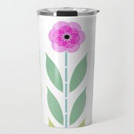 Pink Flower Trio Travel Mug