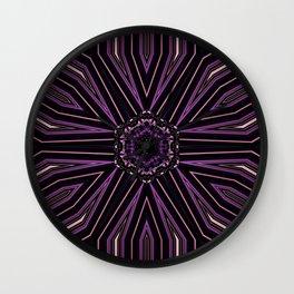 Pretty in Purple (2 of 3) Wall Clock