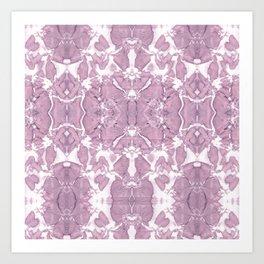 Shibori Rose Crepe De Chine Art Print