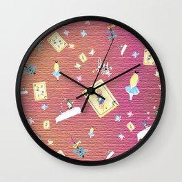 Whimsical Alice Wall Clock