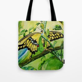 Lime Tree Butterfly II Tote Bag