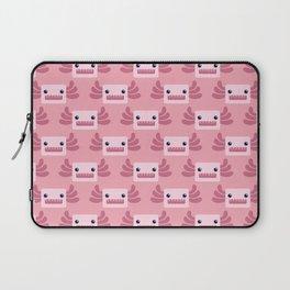 Cute Pastel Pink Axolotls Pattern Laptop Sleeve