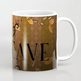 LEAVE - Autumn Amber Coffee Mug