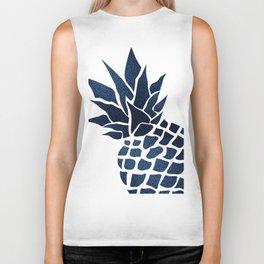 Pineapple, Big Blue, Denim Navy Biker Tank