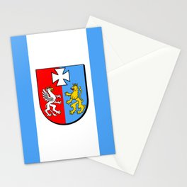 flag of podkarpackie or Subcarpathia Stationery Cards