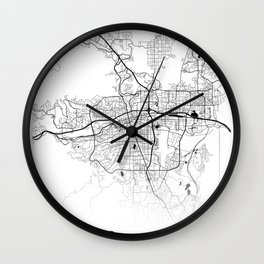 Map of the City Neck Gaiter Reno Nevada Map Neck Gator Wall Clock