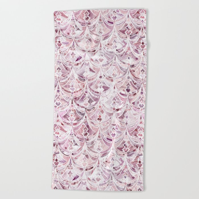 Berry Frosting Art Deco Pattern  Beach Towel