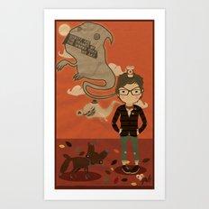 GHOST SPEECH. Art Print