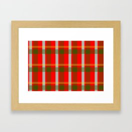 They've Gone Plaid Framed Art Print