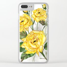 Yellow roses Clear iPhone Case