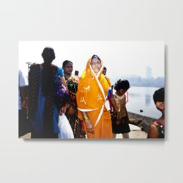 Mumbai Crowds - Haji Ali Mosque - 30 Metal Print