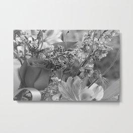 Bouquet B&W Metal Print