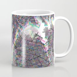 New York City Vibrant CMYK Coffee Mug