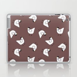 the happy french hen in lilac greige Laptop & iPad Skin