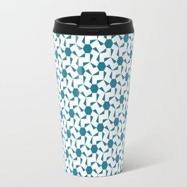 Damascus Motif Blue Palette Travel Mug