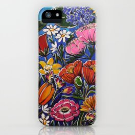 Colourful Blooms iPhone Case