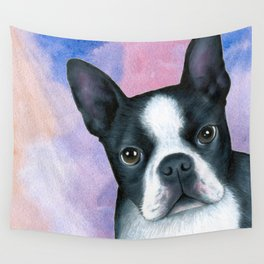 Dog 128 Boston Terrier Wall Tapestry