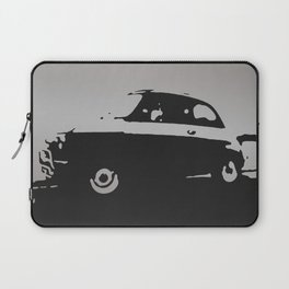 Fiat 500 classic, Gray on Black Laptop Sleeve