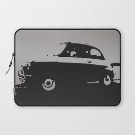 Fiat 500 classic, Gray on Black Laptop Sleeve