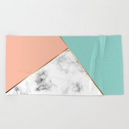 Marble Geometry 056 Beach Towel