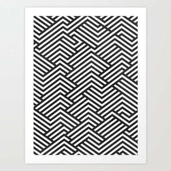 Bw Labyrinth Art Print