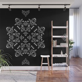 'Love' -  Heart of lace in black and white Wall Mural