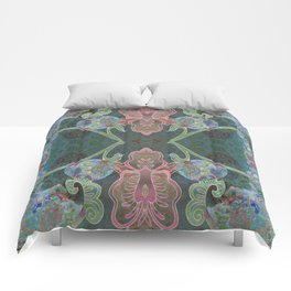 Elegant Detailed Orchid Meditation Pattern Comforters