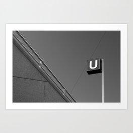 U. Art Print