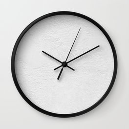 White Wall Texture (Black and White) Wall Clock