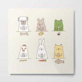 animals on social media Metal Print