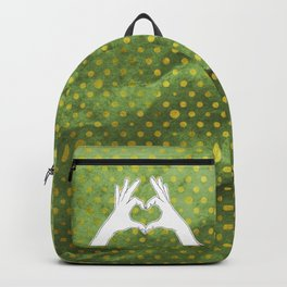 Hand sign heart Backpack