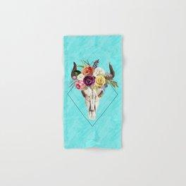 Geometric Boho Floral Skull Hand & Bath Towel