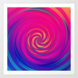 Bermuda Swirl Art Print