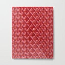 Goyard Red Metal Print