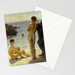 Lovers of the Sun by Henry Scott Tuke Stationery Cards