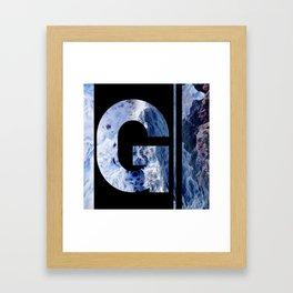 Monogram G Framed Art Print