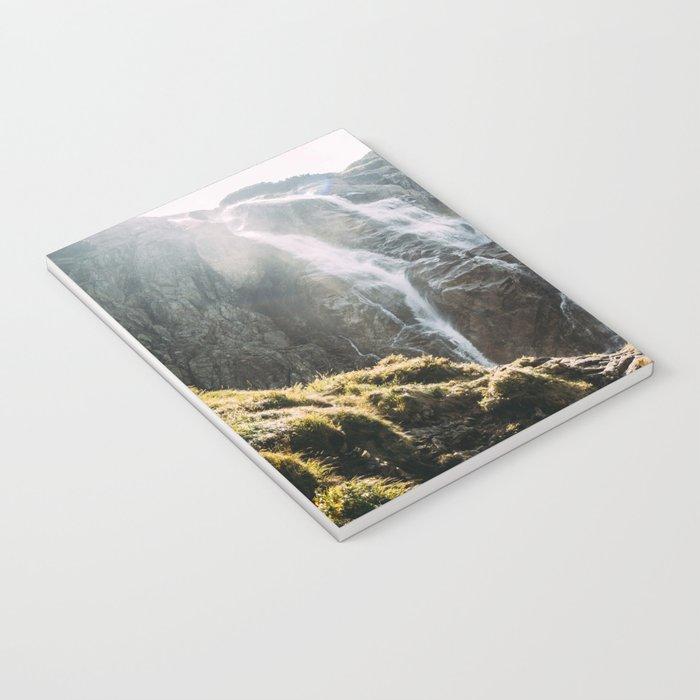 Waterfall In Sunlight Notebook
