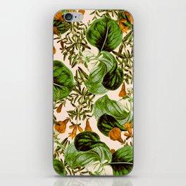 Orange Floral Botanic iPhone Skin