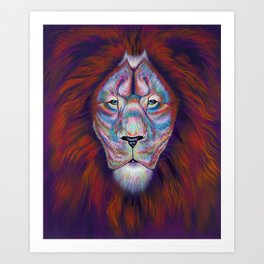 Colourful Lion Art Print - I See You Art Print